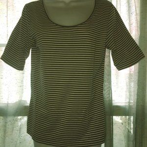Striped Cotton Short sleeve tee